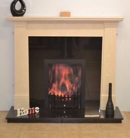 """54"""" marble fireplace granite insert and hearth showroom clearance"""