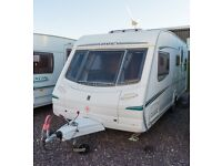 Abbey GTS Vogue 418 - 2004, Fixed Rear Bed, 4 Berth Caravan