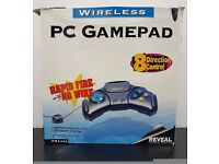 Rare Vintage Reveal Wireless Video Game Controller / PC Gamepad