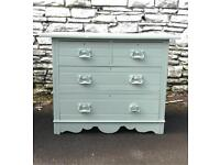 Beautiful Vintage Chest Of Drawers Upcycled