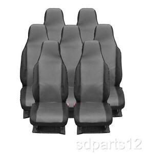 7 x housses gris noir couvre sieges pour volkswagen vw for Housse siege touran