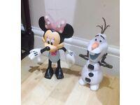 Minnie and Olaf toys