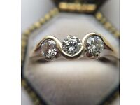 18ct Gold 0.6-0.8ct Diamond ring