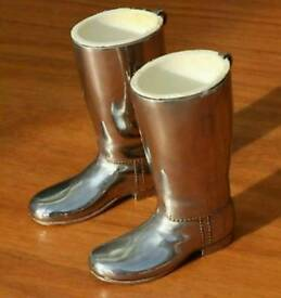 Lovely silver plated vintage boots