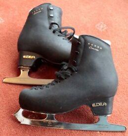 Edea Concerto 5* Black Ice Skates - Size 230 (2) - 8.5 inch Sheffield Steel Blades - Just Sharpened