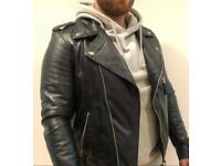 Each X Other Paris Mens Genuine Leather Jacket Navy Sheep Skin Size M Motorcycle