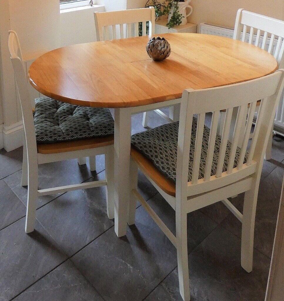 Oak Dining Room Set Table 4 Chairs In Hebden Bridge West