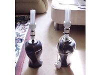 Pair of Matching Lamps. Tested and working. New low energy bulbs fitted in both.