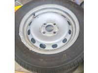 Ford transit courier steel wheels and perfect tyres