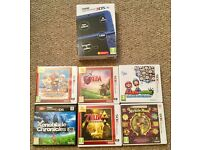 New 3DS XL & six boxed games.