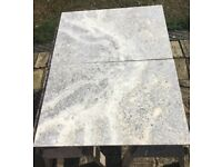 Beautiful Silver Travertine Tiles 610 x 406 - 28 metres hones and filled - bargain