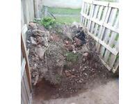 Soil mix kompost rocks