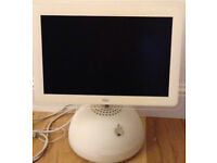 Apple iMac G4, retro round based version, complete with keyboard, mousse, and speakers