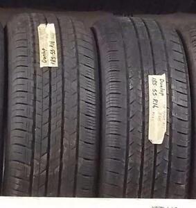 Set of two tires size 185 55 16
