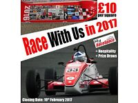 Get your own piece of RACING CAR for the 2017 Season with My RaceSpace - for just £10!