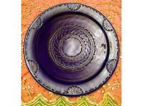 NEW Extra-Large Moroccan Decorative Blue Plate: Kitchen/ Tableware/ Crockery/ Ornament/ Display