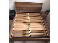 Kingsize bed frame in wood effect