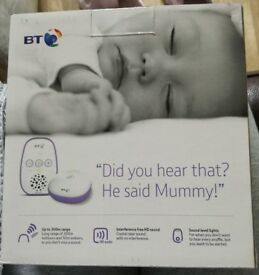 BT audio baby monitor. Brand new, box has never been opened