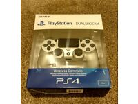 PlayStation 4 (PS4) Wireless Controller (DUALSHOCK 4) Silver - Brand New & Sealed