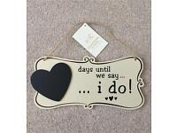Days Until We Say I Do Countdown Sign NEW
