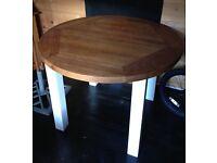Solid oak table. Dereham