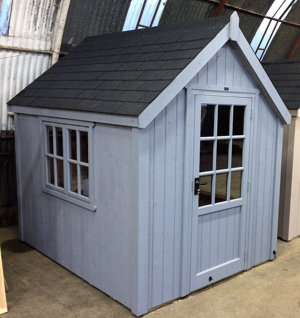 Wooden garages in nottinghamshire - Posh Shed Luxury Garden Shed Ply Lined Shingle Tiled Roof 8x6