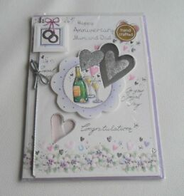 Mum & Dad Wedding Anniversary Cards - Large