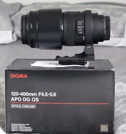 Sigma 120-400mm f4.5-5.6 APO DG OS lens - Canon AF (Immaculate Condition)
