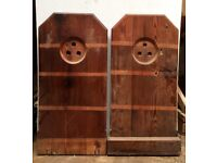WOOD FROM CHURCH PEWS IDEAL FOR DIY / CRAFT PROJECT WITH EXTRA PIECES / ANTIQUE