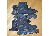 Mens K2 Inline Rollerblade Skates with handguards