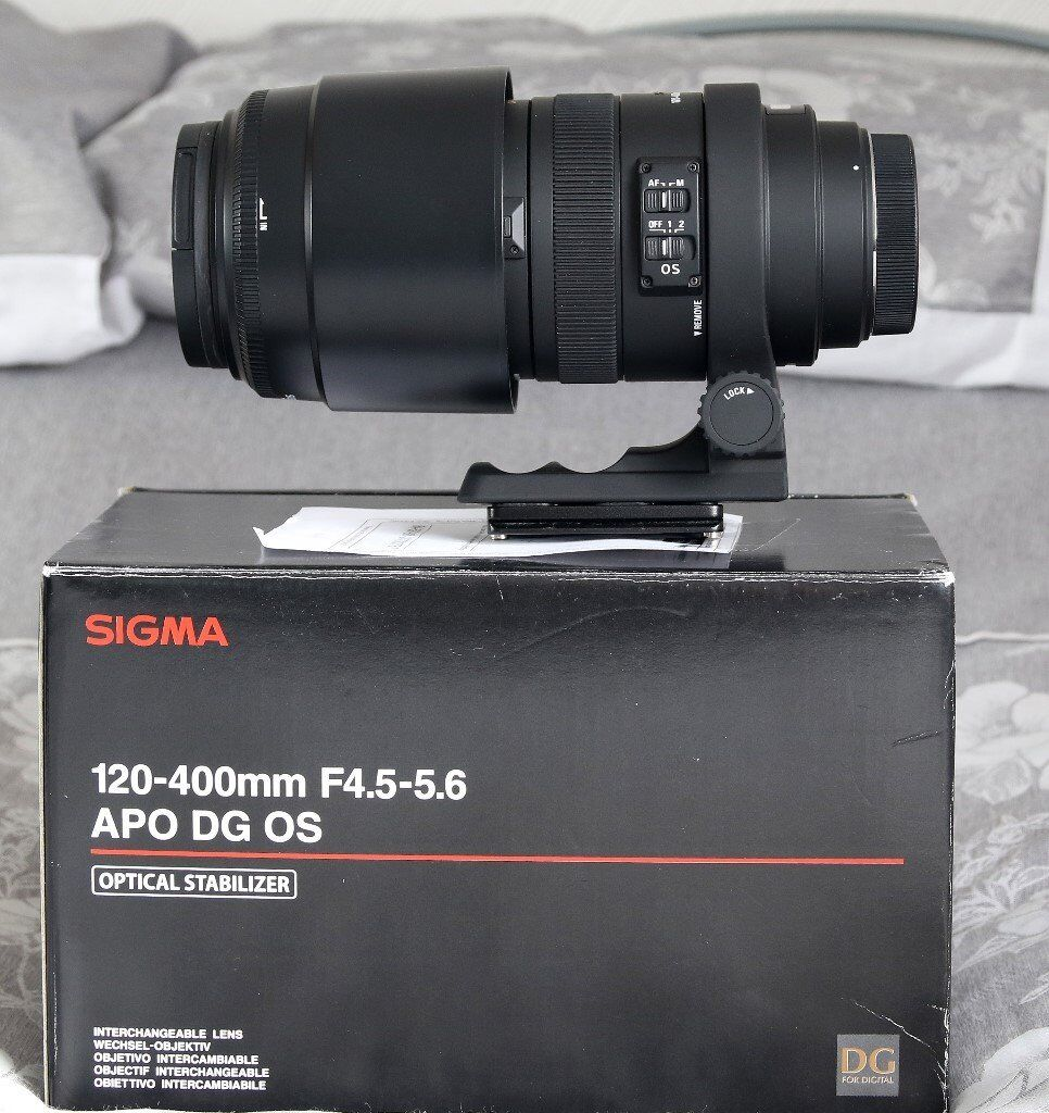 Sigma 120 400mm F45 56 Apo Dg Os Lens Canon Af Immaculate For Nikon 70 300mm F 4