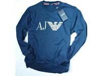 ARMANI SWEATER WITH LARGE 3D RUBER LOGO LOOKS GOOD UNDER ONE OUR JACKETS