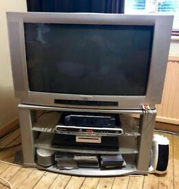 """32"""" BLACK DIAMOND CRT TV WITH STAND AND REMOTE"""