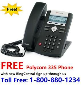 FREE Polycom 335 VOIP Phone with new RingCentral plan signup through us . Call 416-822-8888 or 613-553-8888 for details