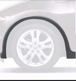 Honda civic 12-16 wheel arch trims black