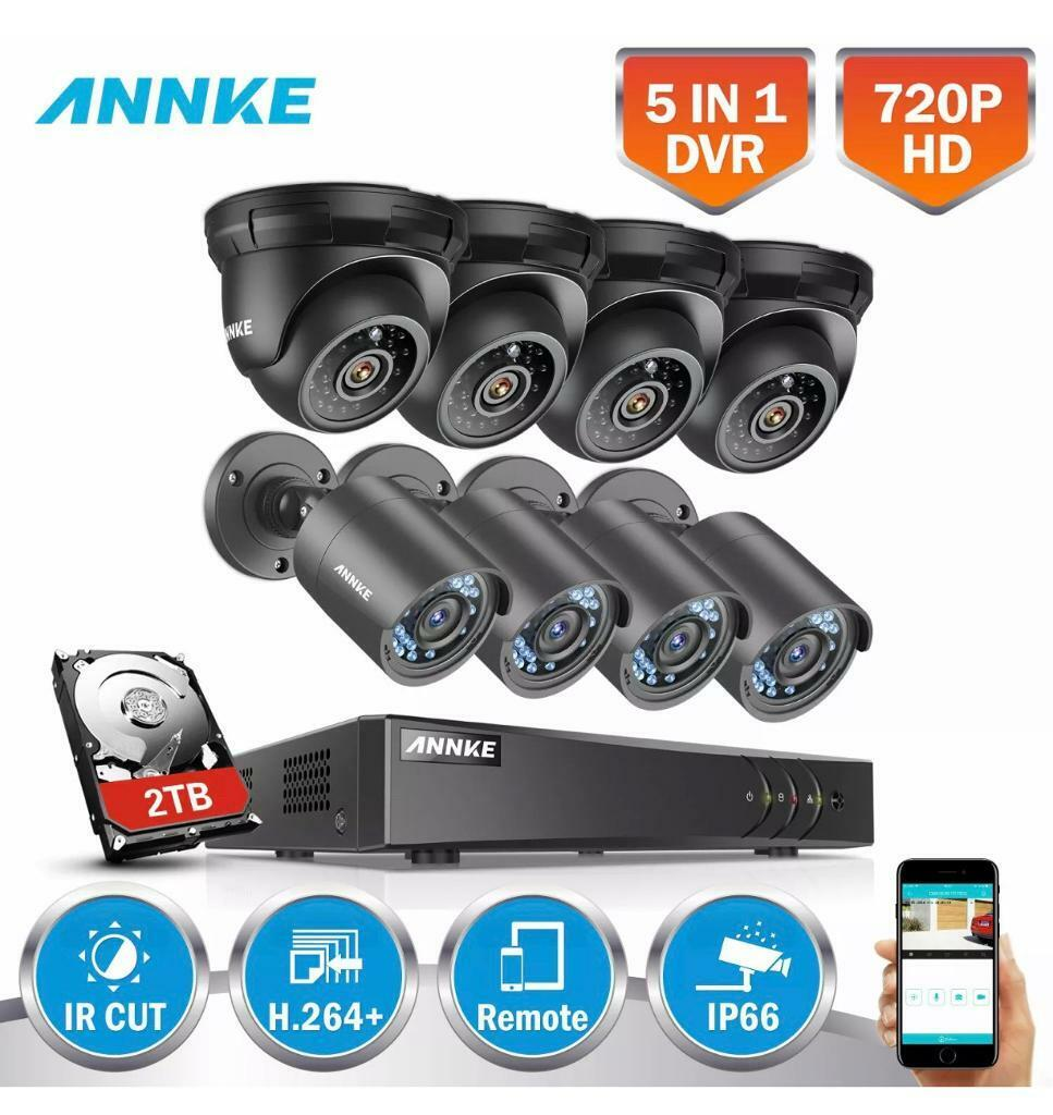CCTV Camera HD Annke 8CH 5in1 1080p Lite CCTV DVR Home Security System  2000TVL IR Cut Camera WHITE | in Wembley, London | Gumtree