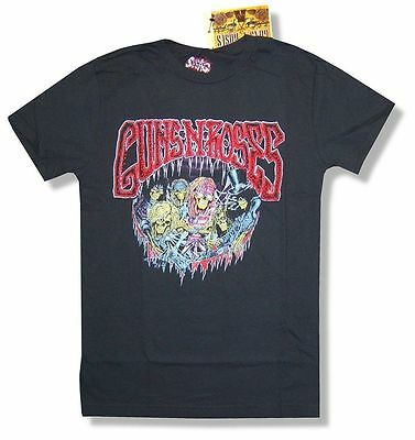 GUNS N ROSES CARTOON CHARACTERS BAND USE YOUR ILLUSION 1992-93 LADIES LARGE
