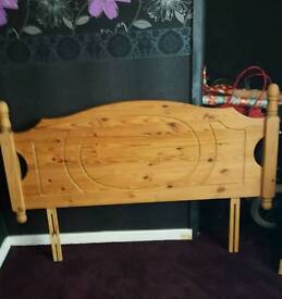 Solid pine double headboard for sale