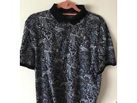 Next Premium paisley polo shirt XL