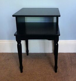 Retro/ Vintage Black Solid Wooden Hall Stand with shelf
