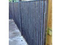 3 FENCE PANELS AND POSTS PLUS FREE GARDEN GATE