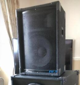 RENT My 700W (RMS) PA Speakers Sound System. £35 per night