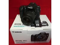 Canon EOS 70D 20.2MP Digital SLR Camera with EF-S 18-55mm f3.5-5.6 IS Lens