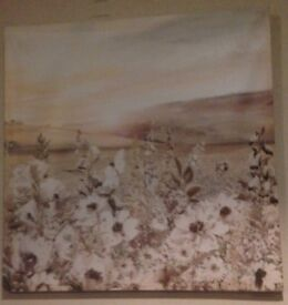 Flowers wall art picture must go by Friday £5
