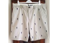 Mens BODEN Shorts with Seahorse Pattern Size 40 inch Waist