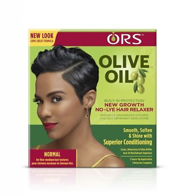 ORS Olive Oil Built-in Protection No Lye Hair Relaxer Fine Medium Texture (Olive Oil Hair Relaxer)