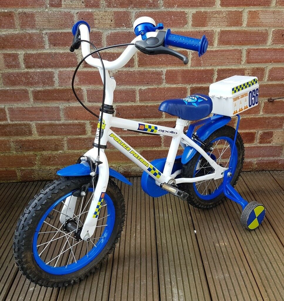 Apollo 14 Inch Police Patrol Kids Bike Excellent Condition