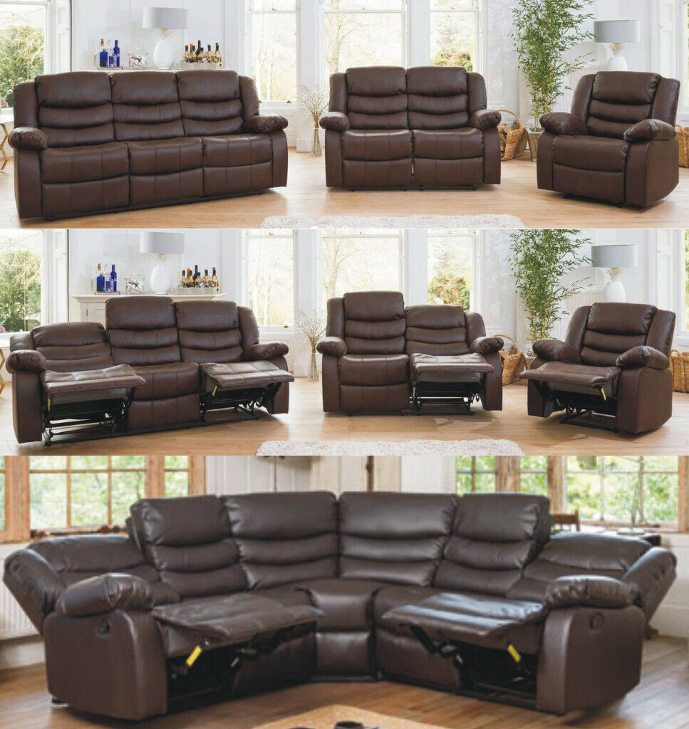 Phenomenal Deliver All Uk Roma Corner Or 3 2 Sofa Recliner In Pure Bonded Leather 5 Years Warrenty In Newcastle Tyne And Wear Gumtree Pabps2019 Chair Design Images Pabps2019Com