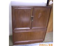 Wooden TV Cabinet Conceal TV DVD Video Media Gaming Storage Pine (Mahogany colour) Bristol