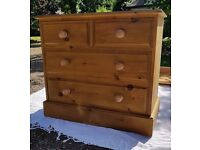 Medium Solid Pine Chest Of Drawers